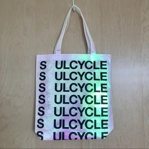 Soulcycle Iridescent Holographic Tote Bag special